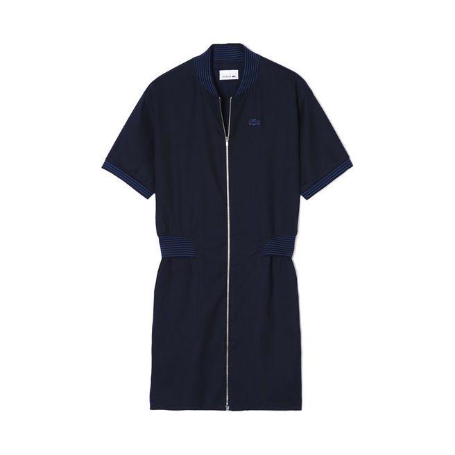 Vestido de piqué stretch de algodón - Marine | LACOSTE
