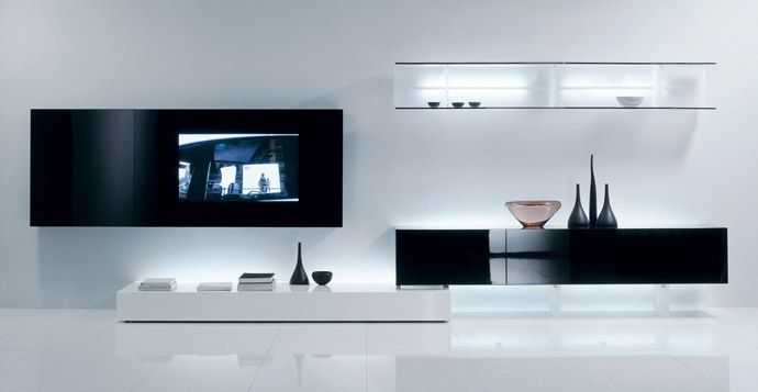 Salones minimalistas mobiliario e interior pinterest - Mueble salon minimalista ...