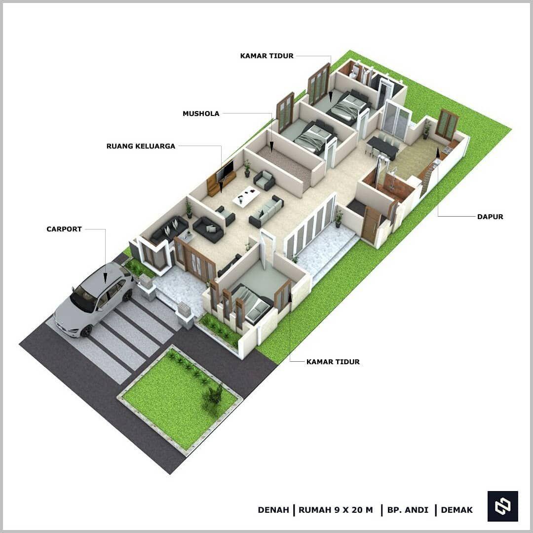 Noman Design Di Instagram Jasa Desain Rumah Harga Mulai Rp 250 Ribu Desain Bp Andi 1 Lantai Demak Luas Lahan 9 X 20 M Kam Desain Rumah Rumah Desain