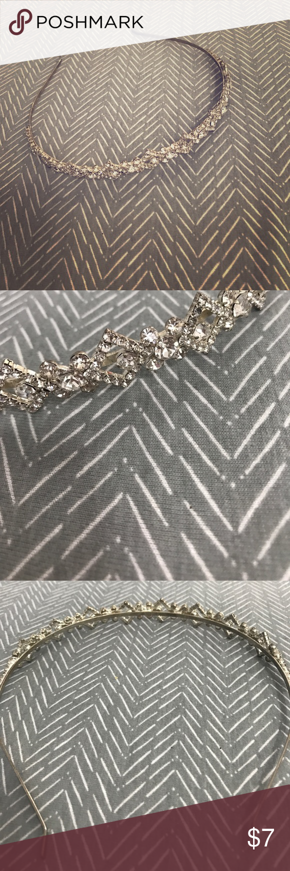 Silver Bedazzled Headband A beautiful and simple Headband for a wedding or prom that can pull together any look. Worn once. Claire's Accessories Hair Accessories