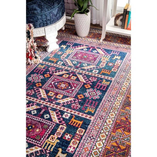 7 Basement Ideas On A Budget Chic Convenience For The Home: NuLOOM Bohemian Tribal Navy Rug (5' X 7'5)