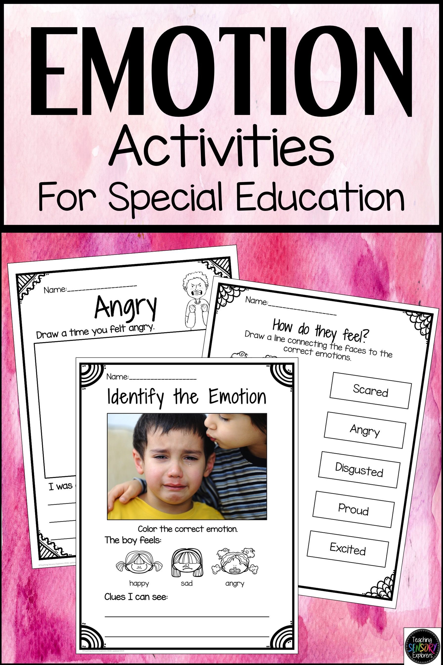Emotions Worksheets And Activities Special Education