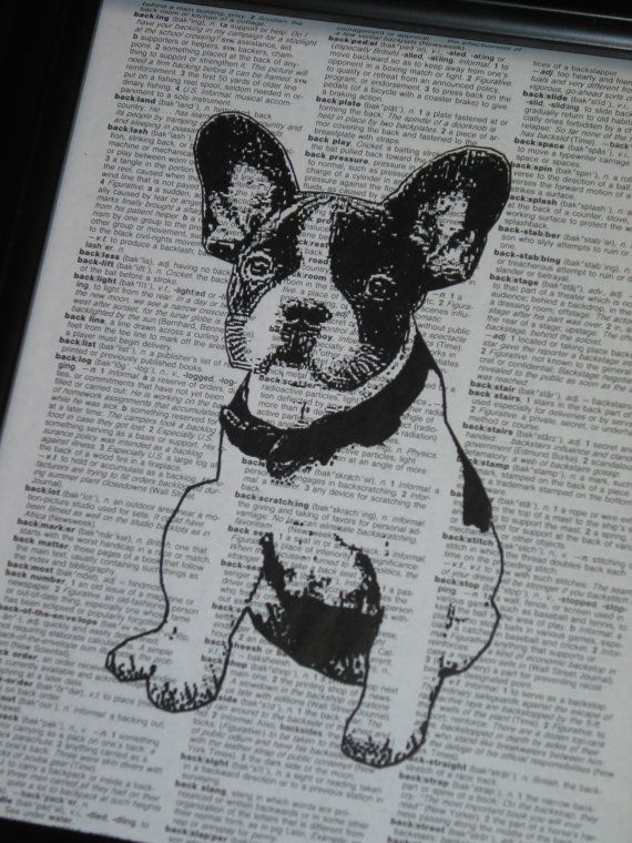 can make one with duke for the patio DOG Art Print Dictionary Art ...