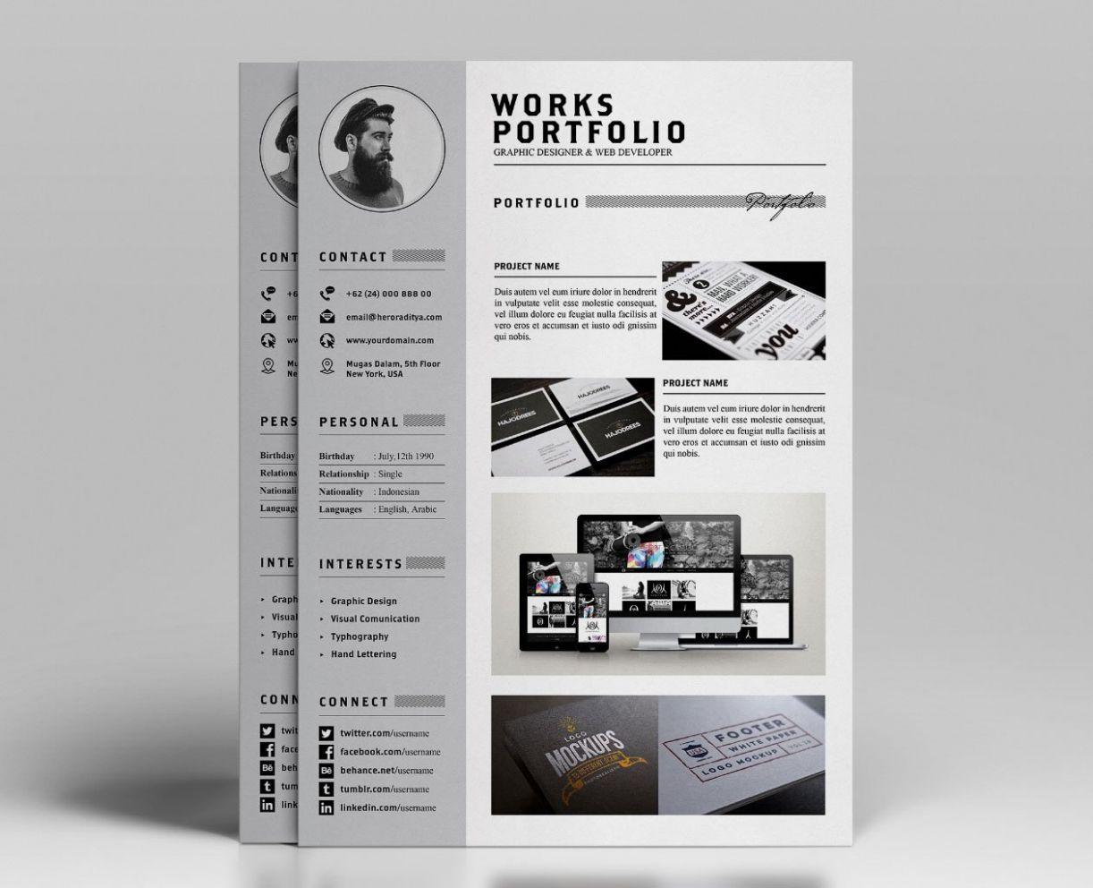 8 Resume Portfolio Template in 2020 Portfolio templates