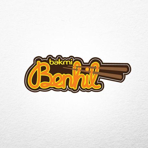 Desain Logo:  Desain Logo Brand Bakmi Benhil Oleh Www.SimpleStudioOnline