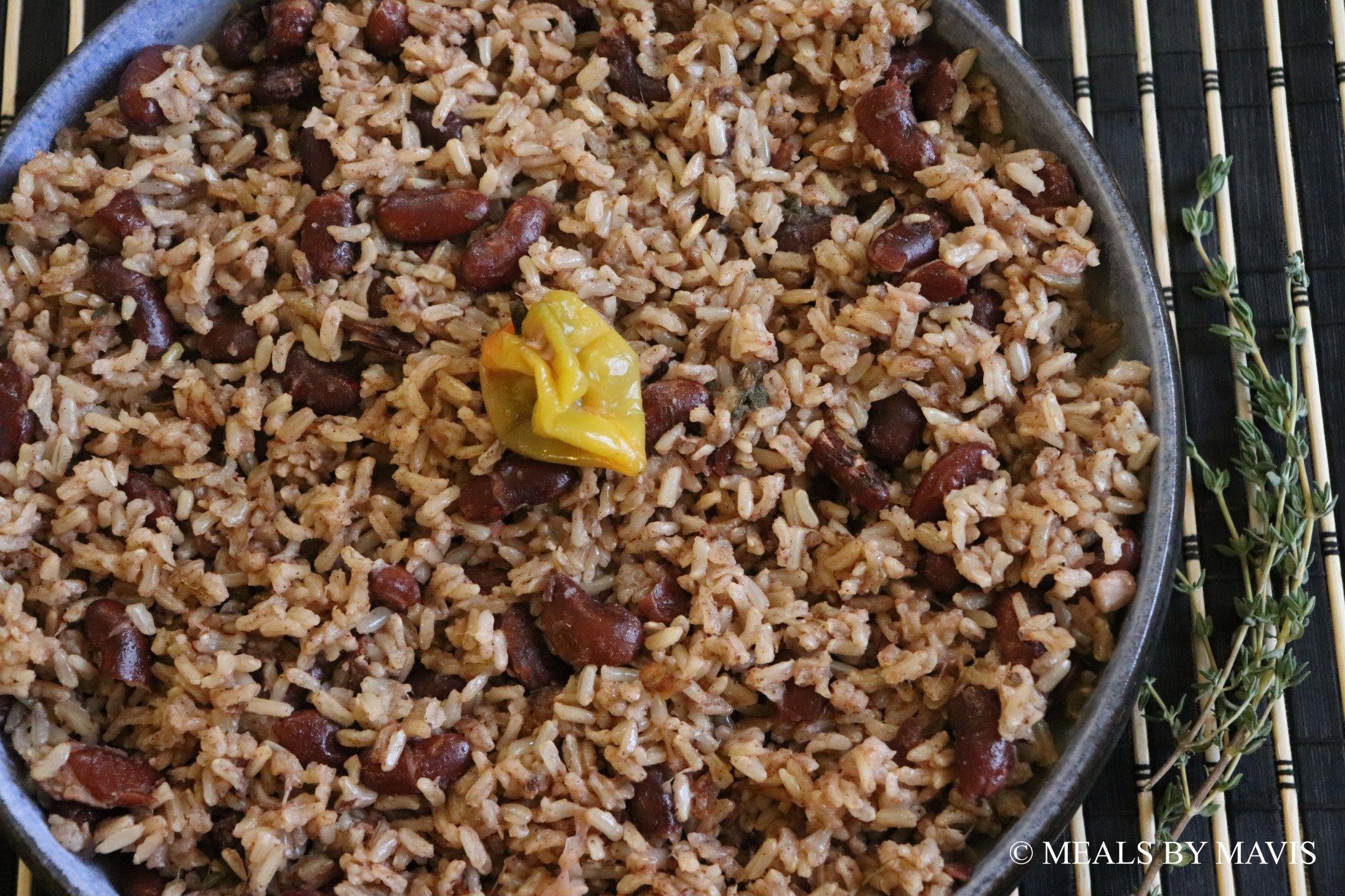 jamaican rice and peas  recipe in 2020  jamaican rice