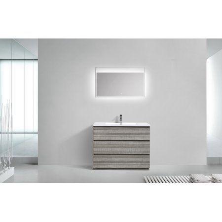 Angeles Series 42 Inch Free Standing Single Sink Bathroom Vanity in