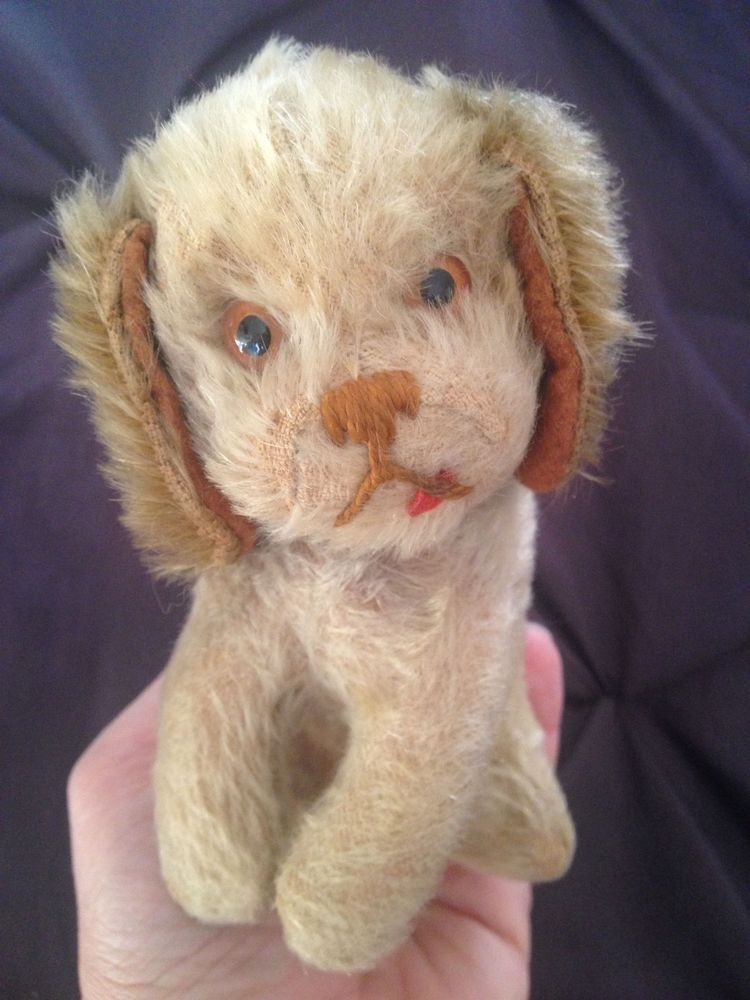 Rare Vintage Schuco Yes No Mechanism Puppy Dog Red Tongue Mohair 5