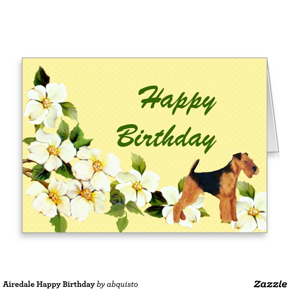Airedale Happy Birthday Card Happy Birthday Cards