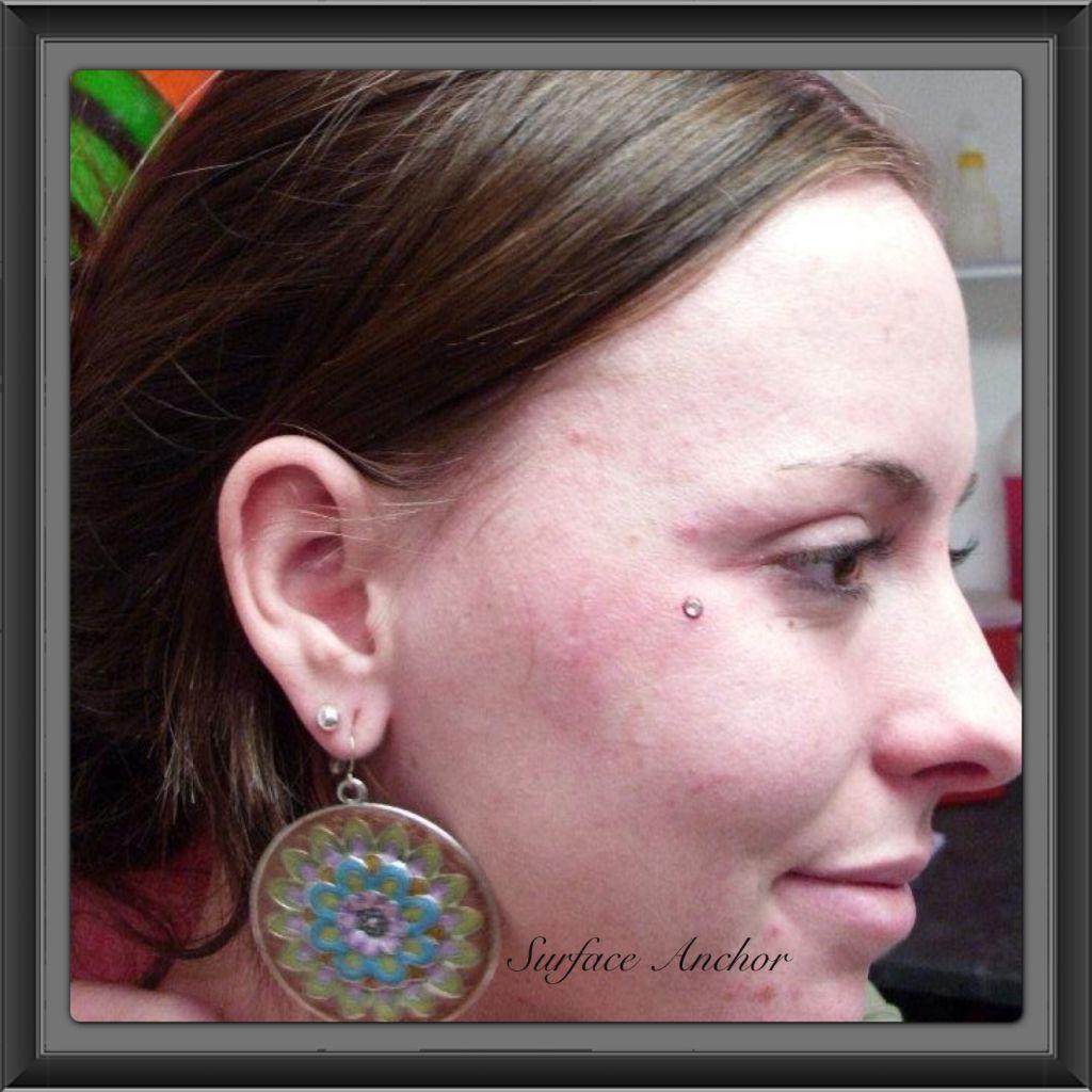Piercing pain areas  Dermal anchor by Jay  Body Piercing by Jay  Pinterest  Dermal