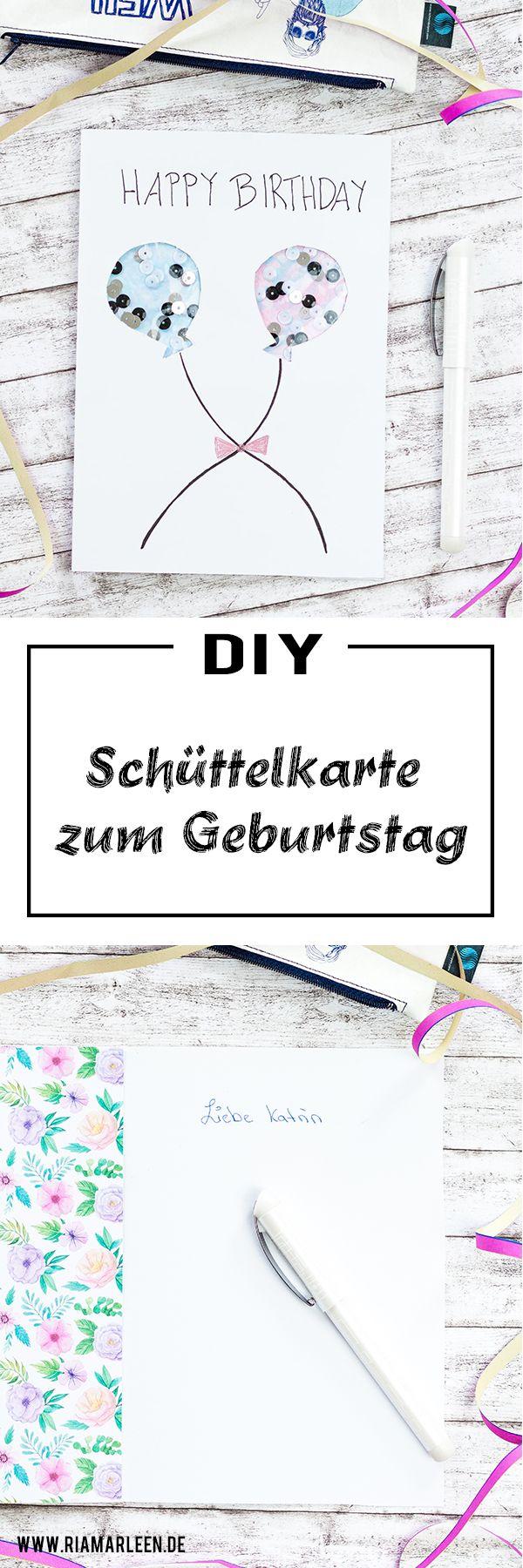 DIY Schüttelkarte zum Geburtstag basteln - mit dem Schneider Glam VIP #diybirthdaydecor