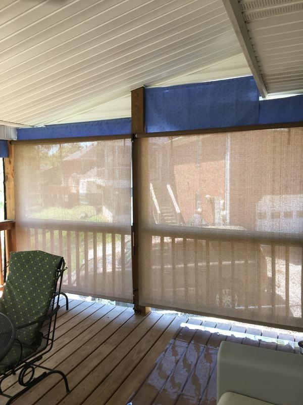Coolaroo Solar Outdoor Shades Blinds Com Outdoor Shade Porch Shades Patio Shade