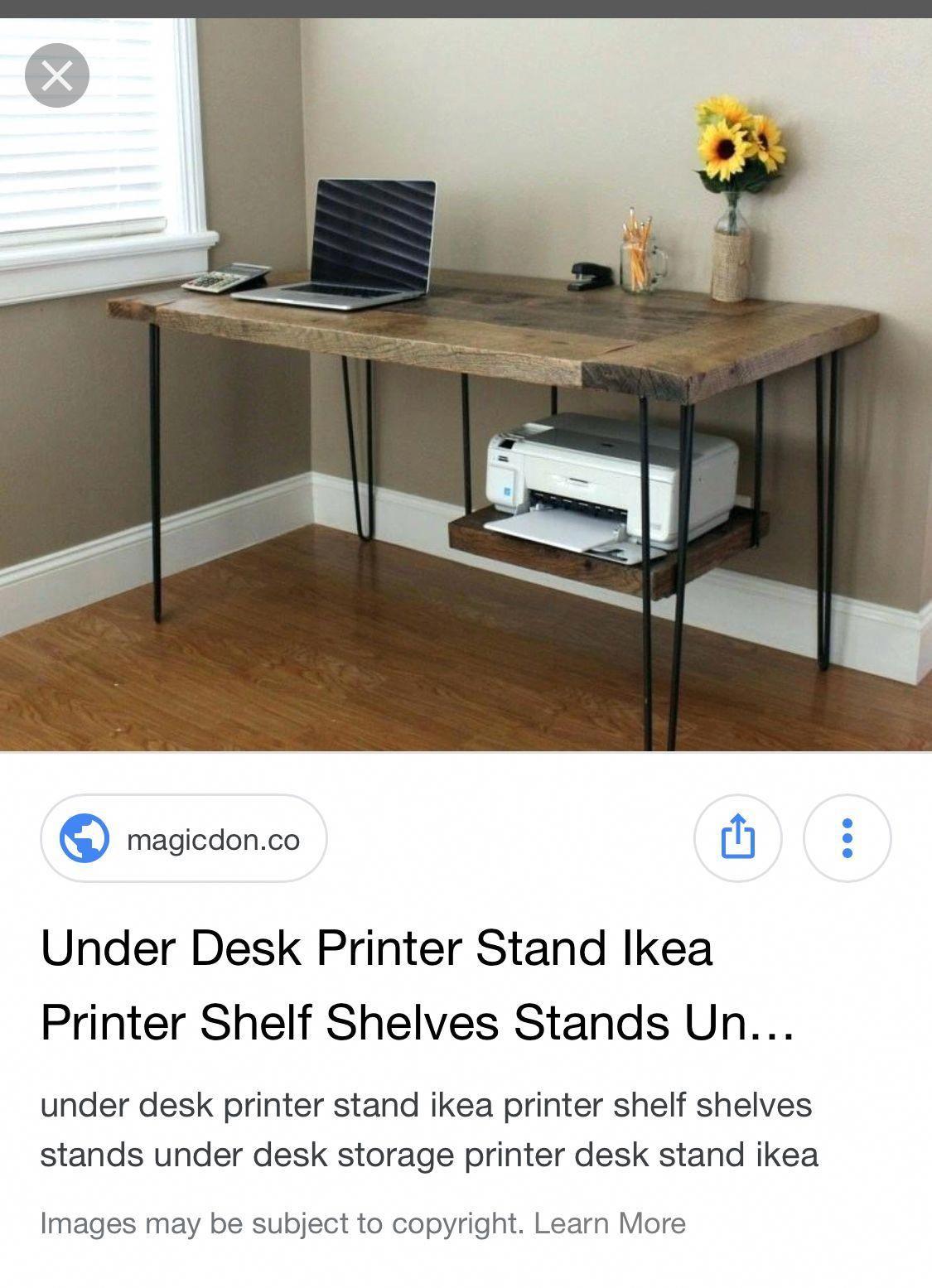 Under Desk Ikea Printer Stand Homeofficefurnitureideascreative Printer Stand Ikea Ikea Desk Printer Stand
