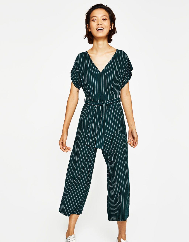 065ab432ec3 Mono largo rayas - Vestidos - Bershka España Striped Jumpsuit