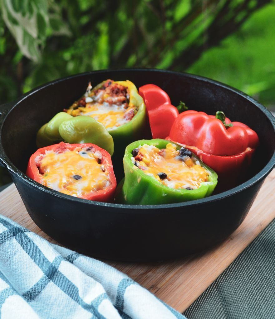 Flavorful Dutch Oven Peppers With Chorizo The Backcountry Kitchen Recipe Stuffed Peppers Campfire Food Recipes