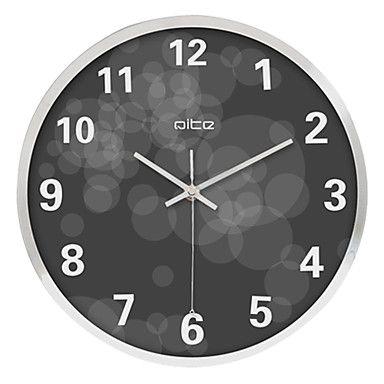 43 99 12 H Modern Circles Stainless Steel Wall Clock