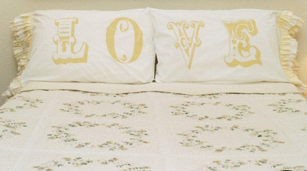 Create a charming and romantic look in your bedroom with Love Knockoff Pillowcases. Make decorative pillowcases with fabric paint stencils ...