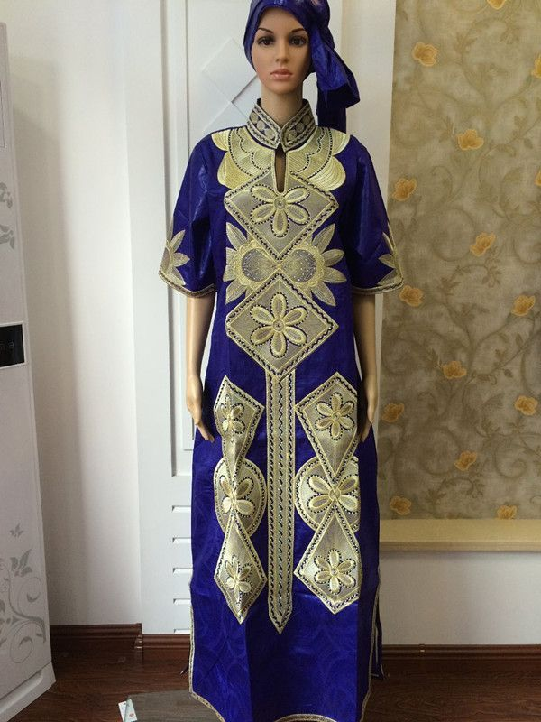 New fashion design african bazin riche material embroidery