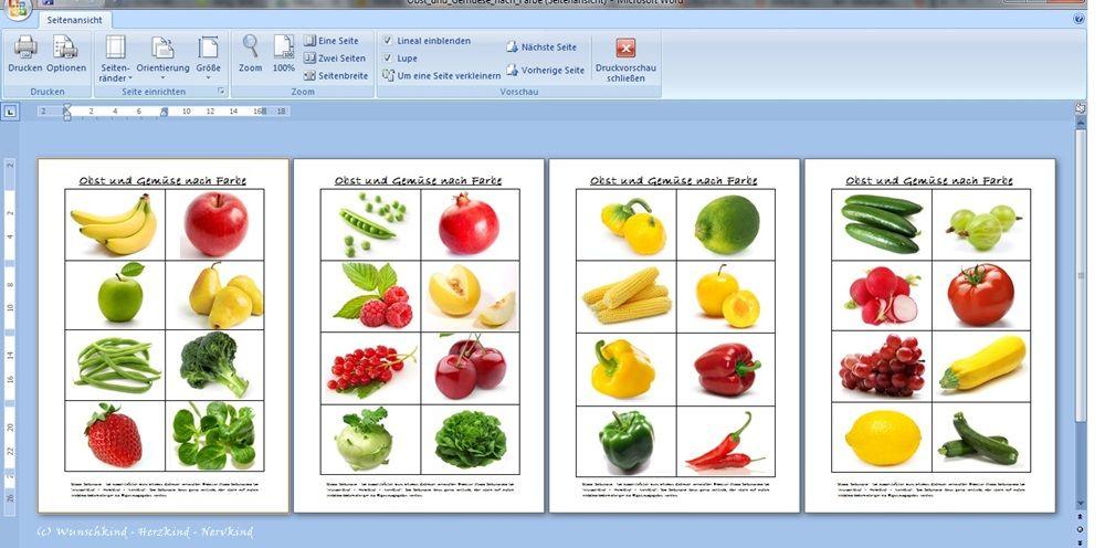 Obst und Gemüse nach Farben | Kids | Pinterest | Montessori ...