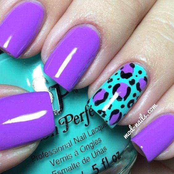 purple nail art for wedding 2018 - Reny styles | Purple ...