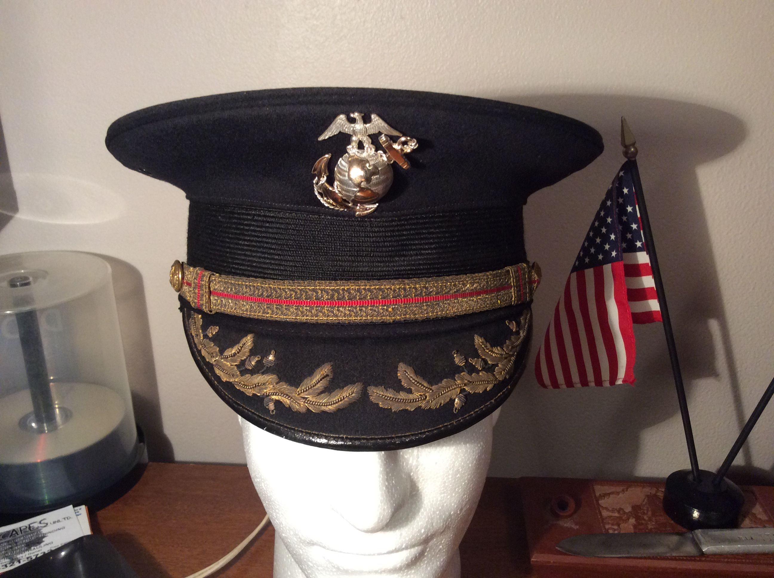 895448d67c9 Marine Corps Officers Dress Hat 1920s. Roy Berry collection ...