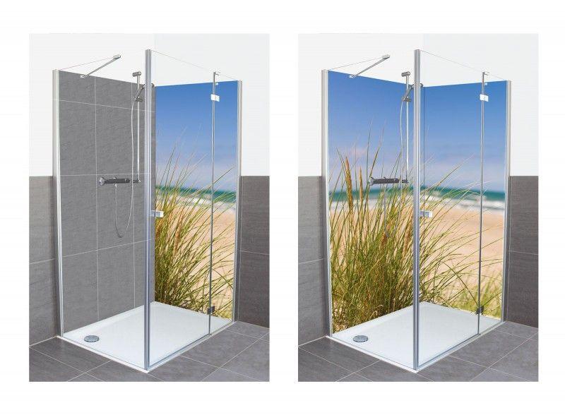Oliver Strand Mit Dunengras Im Sand Alu Duschruckwand Wohnaccessoires Duschruckwande Duschruckwand Dusche Badzimmer Ideen
