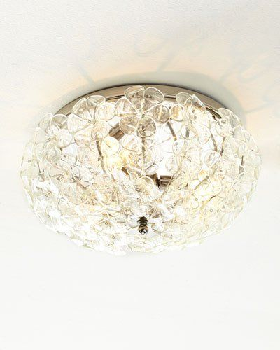 Shop glass flower flush mount ceiling fixture at horchow where youll find new lower shipping on hundreds of home furnishings and gifts