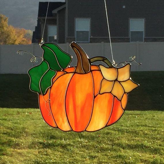 Stained Glass Pumpkin Sun Catcher