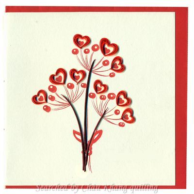 © Vietnet- quilled valentine and heart cards (Searched by Châu Khang)