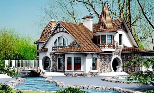 whimsical Fantasy house
