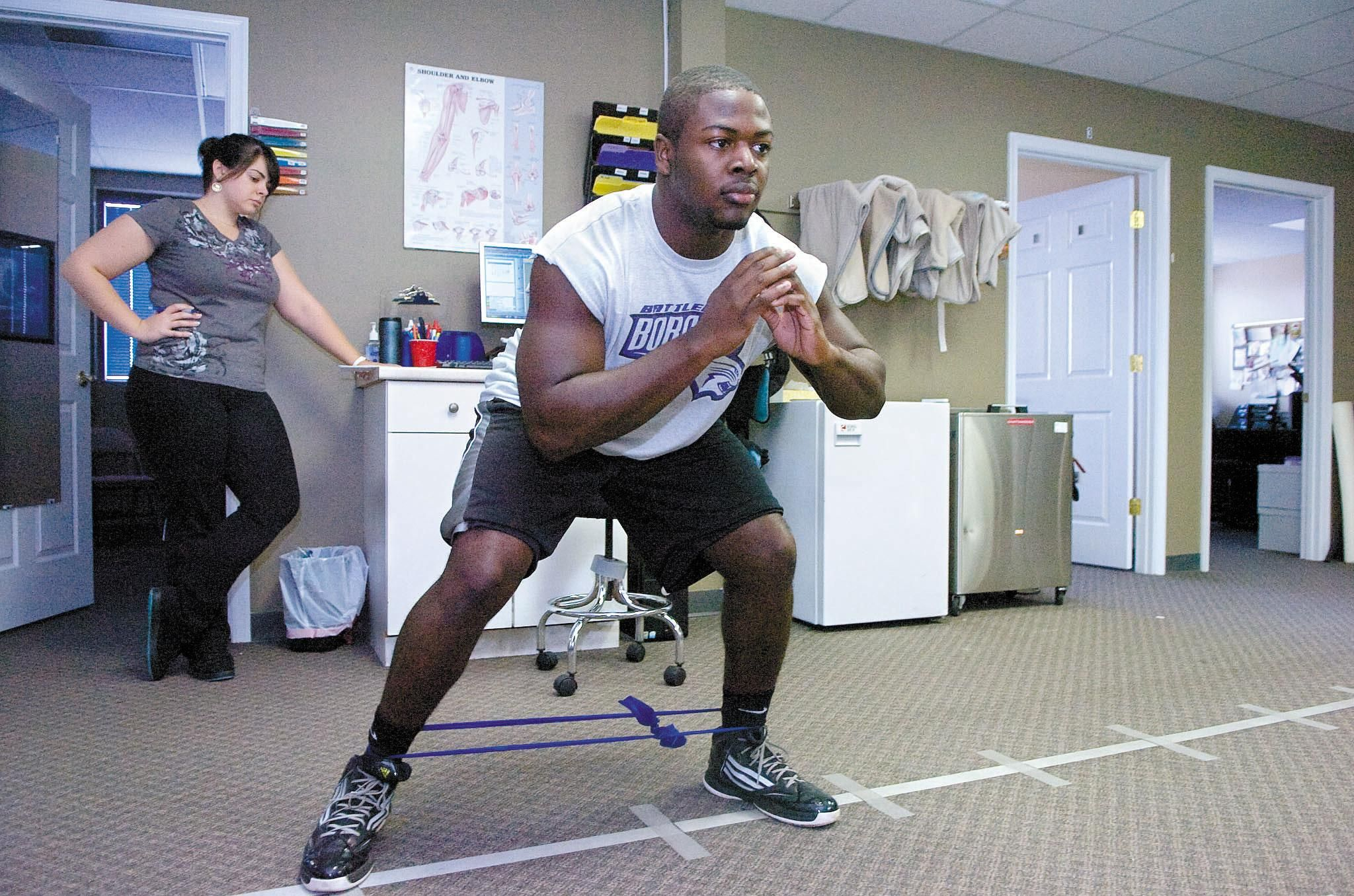 Physical therapy helped this high school football player