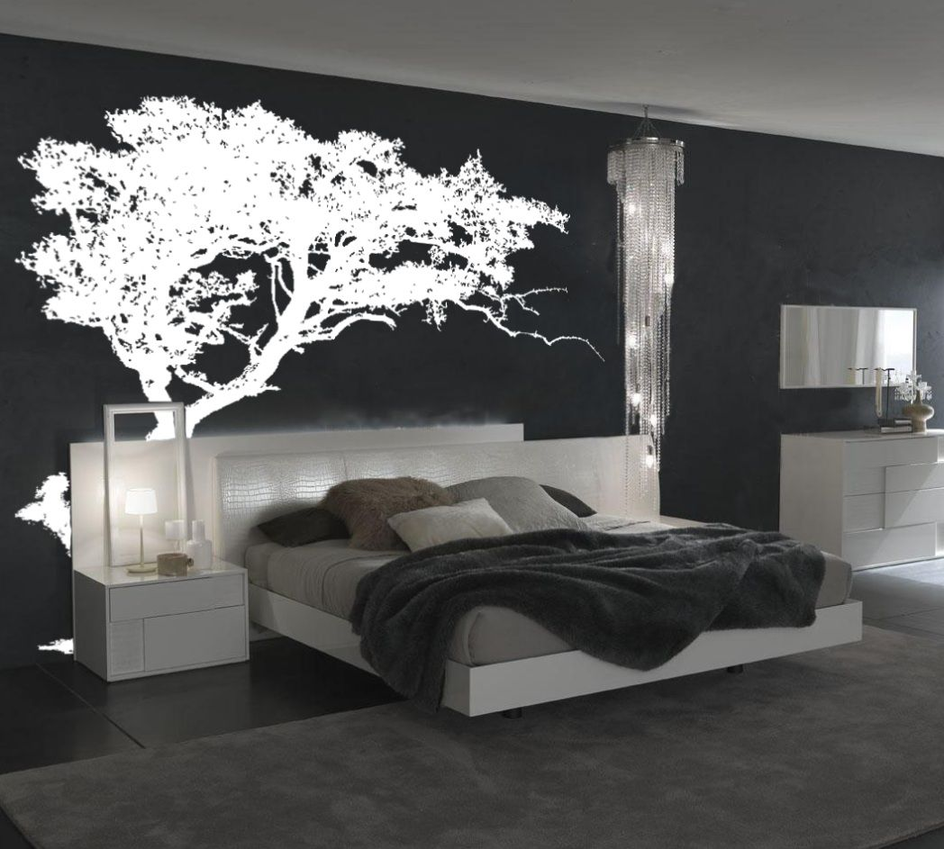 charming bedroom wall art stickers | Large Wall Tree Decal Forest Decor Vinyl Sticker Highly ...
