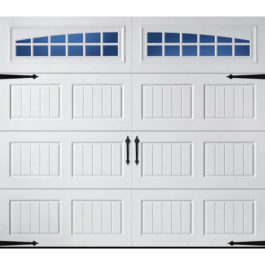 Pella Carriage House 96 In X 84 In Insulated White Single Garage Door With Windows Lowes Com Single Garage Door Carriage Style Garage Doors Carriage House Garage Doors
