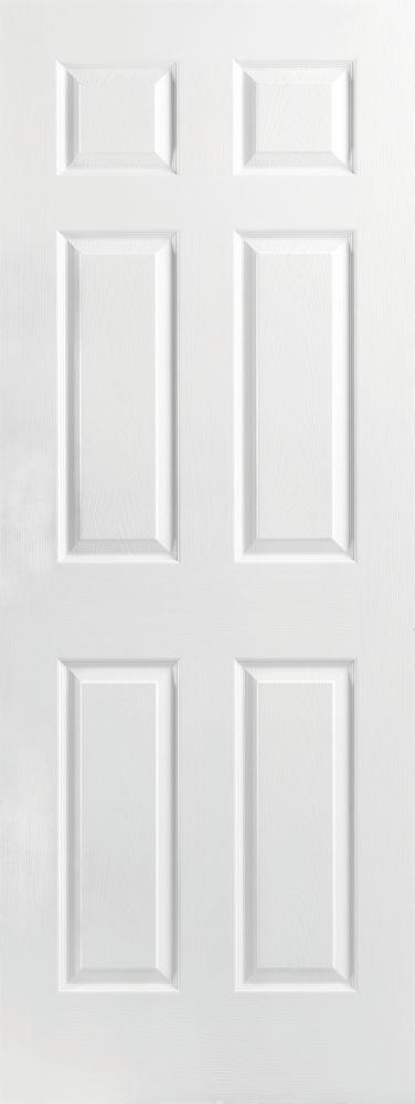 Molded 6 panel interior door 28 in x 80 in x 1 38 cottage doors masonite 28 inch x 80 inch x 1 38 inch molded 6 panel interior door the home depot canada planetlyrics Gallery