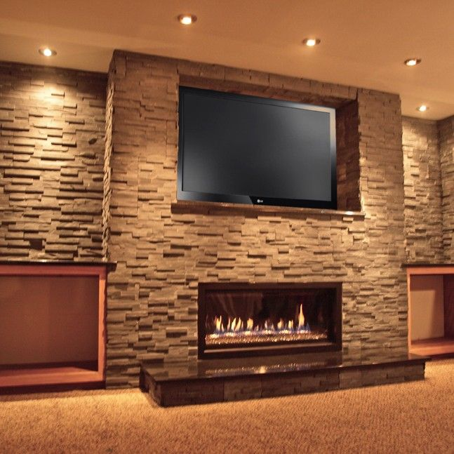 Linear Gas Fireplace Installed At Home Near Janesville Wi