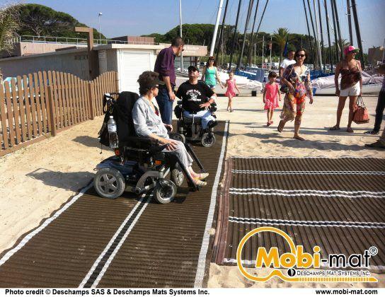Mobi Mat Ada Beach Access Mat Inclusive Technology Adaptive Sports Beach Mats