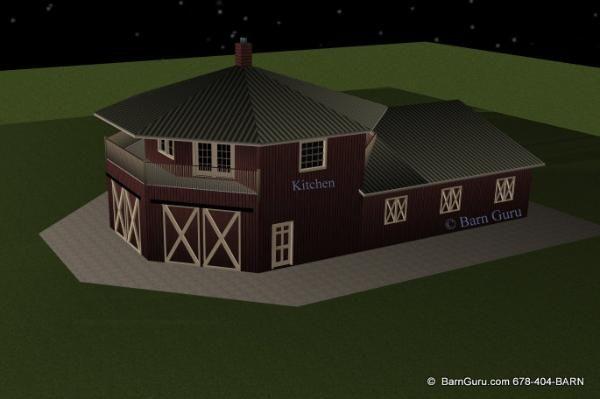 Horse Barn with upstairs apartment - ga builder | House/barn ...