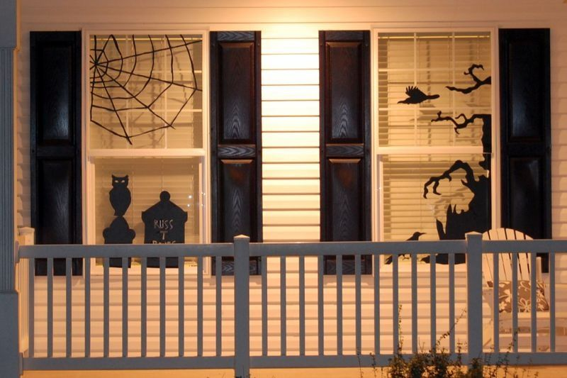 How To Decorate Windows For Hallowee Shelterness For the Home - halloween window decorations