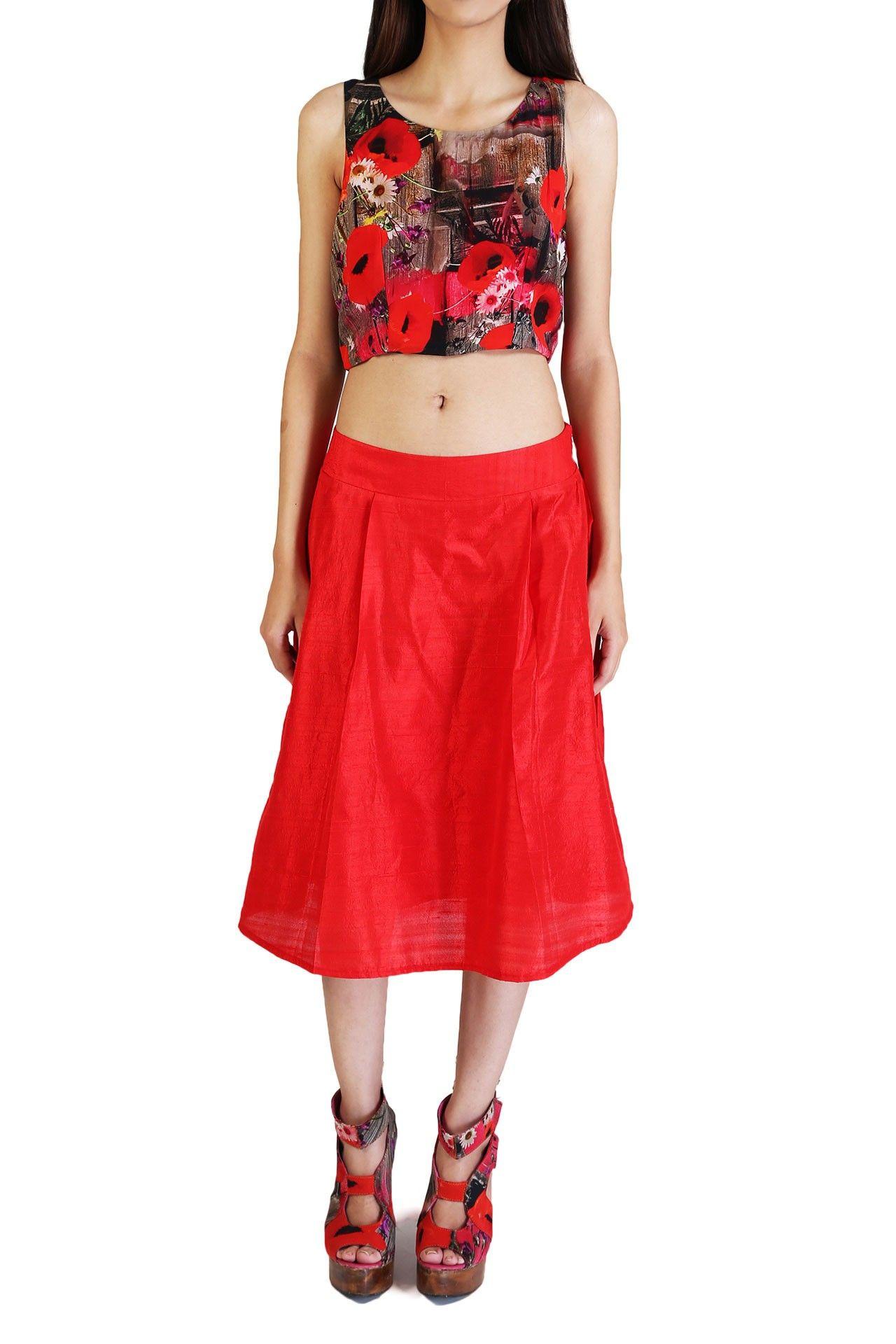 Red trend carpet full tulip skirts 2019