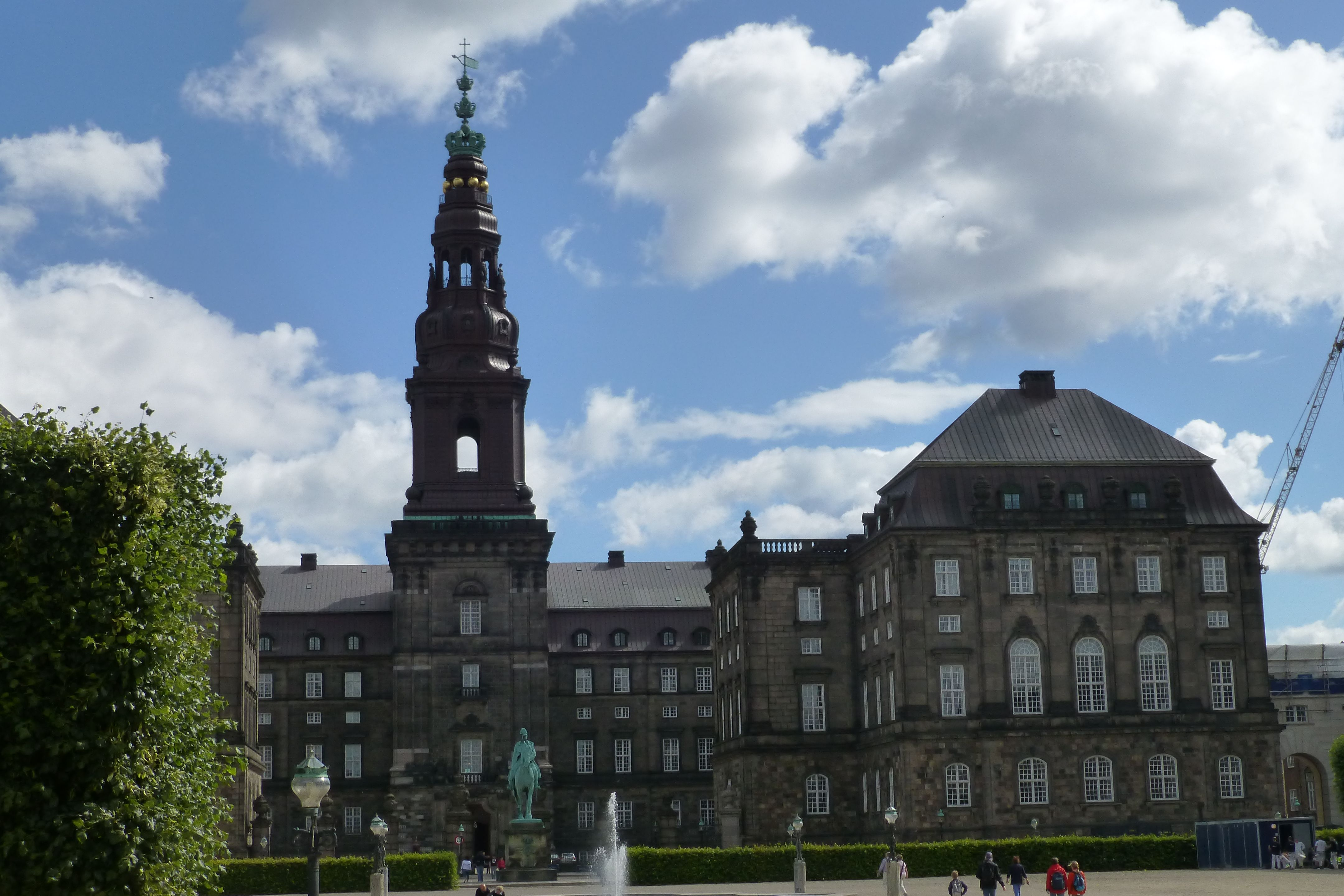 """Christiansborg - where the """"folketing"""" is situated."""