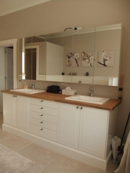 badkamermeubel met ikea keukenkasten bathroom pinterest