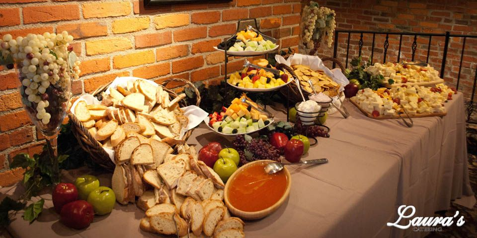 Receptions Food Displays And Prime Time On Pinterest: Wedding Display ; Fruit, Bread, And Cheese Display