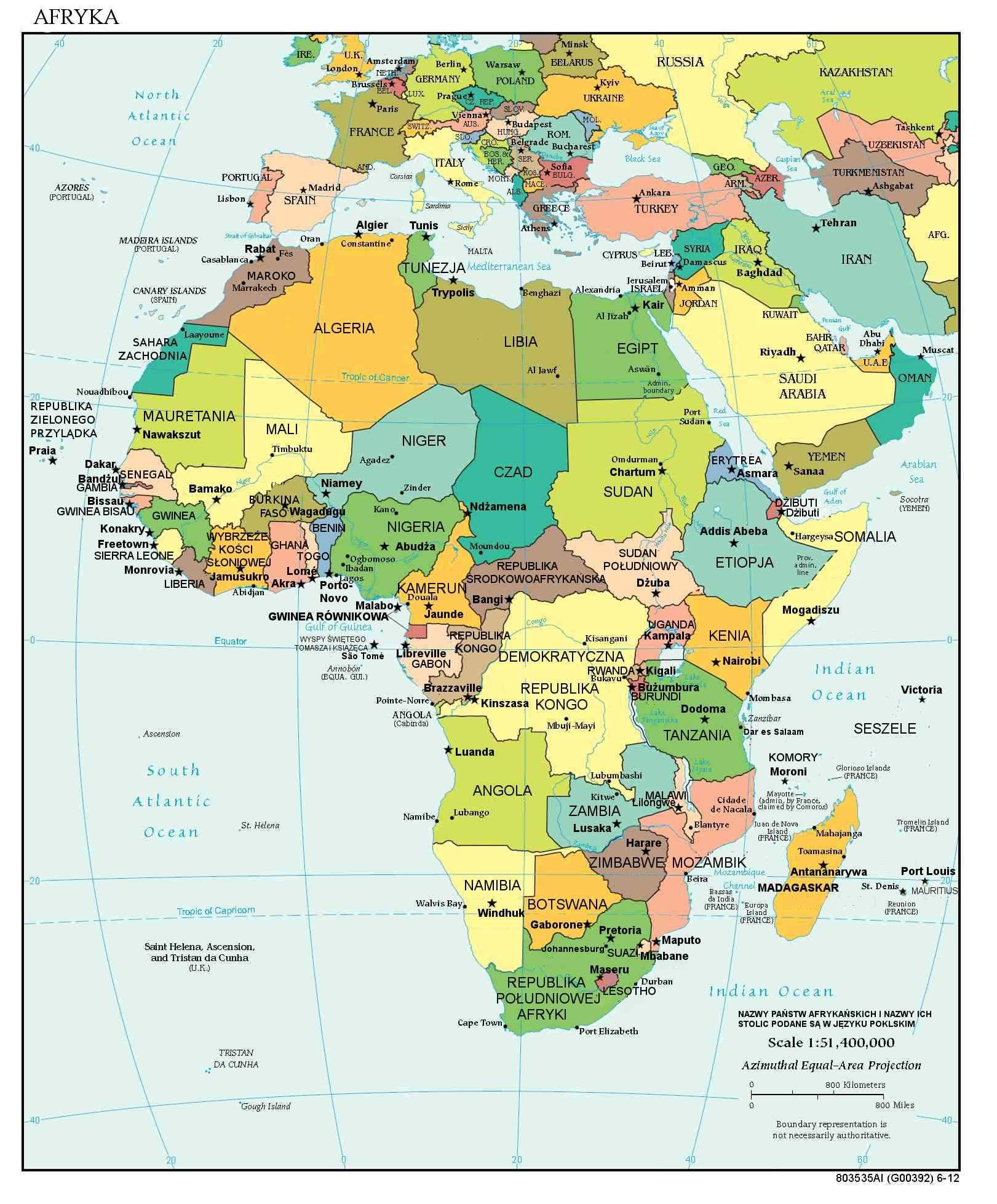 Panstwa W Afryce Sprawdz Kraje Afryki Mapy Swiata Mapa