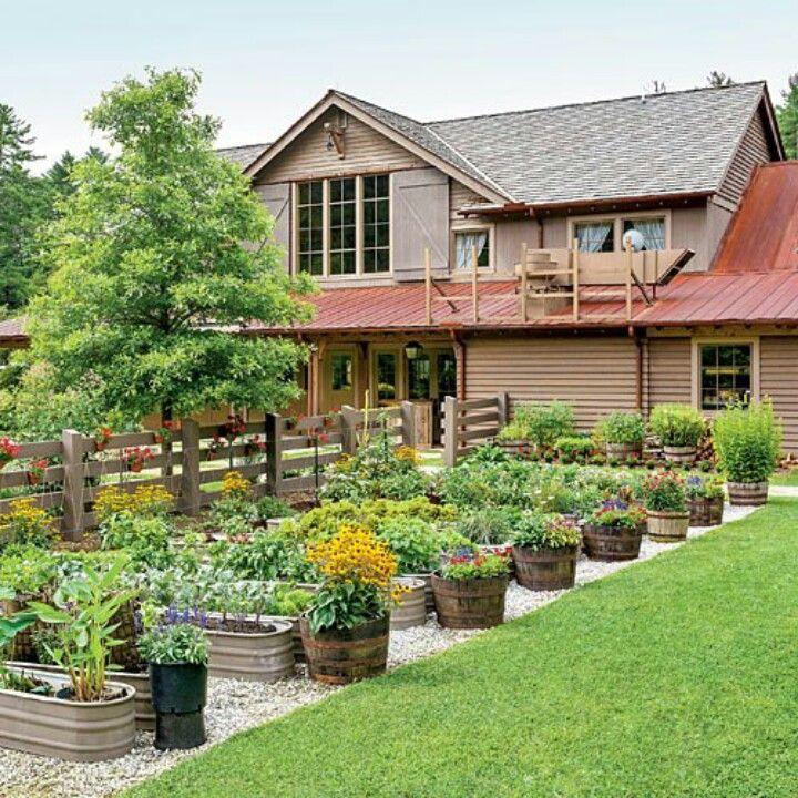 galvanized stock tank   raised garden planter