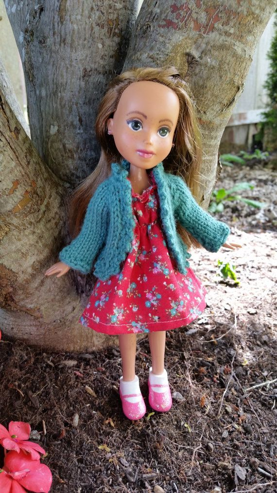 Knitted Cardigan Sweater Pattern For Rescued By Prettygingham Doll