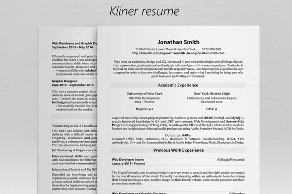 Kliner \u2022 Simple professional resume @creativework247 How to Make a