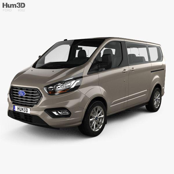 3d Model Of Ford Tourneo Custom L1 2017 Ford Model Vans