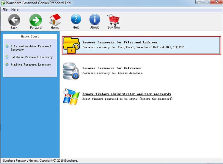 选择恢复文件和存档的密码 Excel Workbook Password Protection