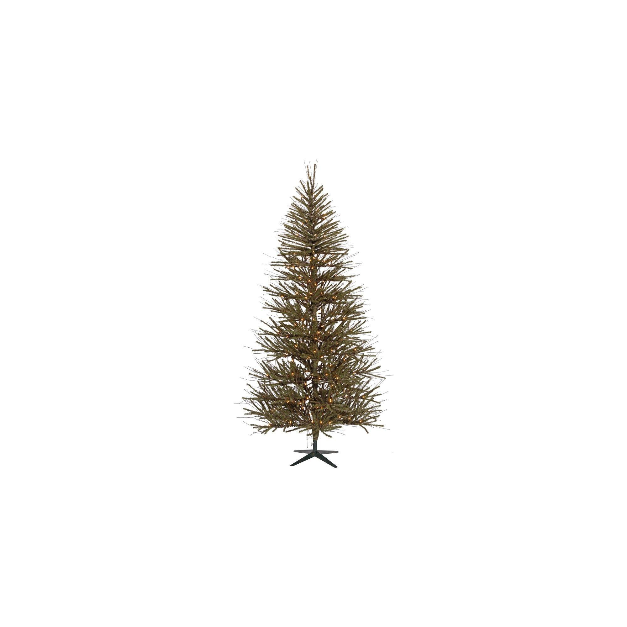 3 Pre Lit Vienna Twig Artificial Christmas Tree With Metal Tree