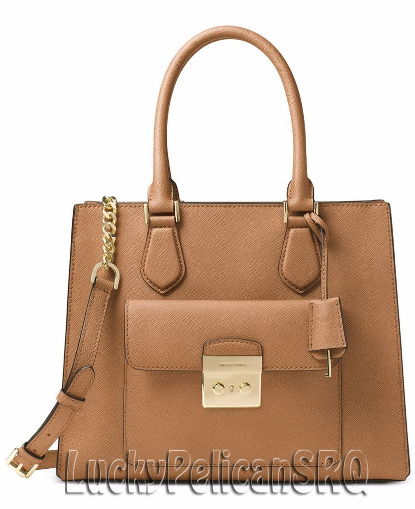 1d8f7b13571e80 Michael Kors Bridgette Medium East West Tote Satchel Acorn Brown NWT # MichaelKors #TotesShoppers